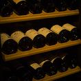 当店の料理に合わせた、カジュアルに飲めるヨーロッパ主体のワインを、専用ワインセラーにてご用意しております。常備50種類ほどご用意がございます。日替わりで様々なワインも1杯から販売しております。