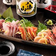 市場より毎朝仕入れる鮮魚は日本酒との相性抜群!