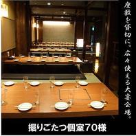 千葉での大型宴会に最適な個室席を完備しております。