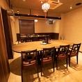 完全個室。焼酎宴会や女子会・デート・接待にお薦め。人数により広めの個室ご用意致します。