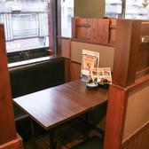 窓際の個室感のある4名様用のテーブル席です。
