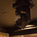 【照明設備】プロ仕様の機材で、本格的な演出が可能です