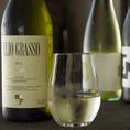 気軽に楽しめる、イタリアワインを中心に料理に合わせた豊富なアルコールメニューもゆったりとお楽しみいただけます。