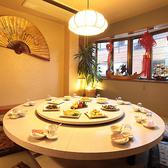 中華円卓の個室は使い勝手◎雰囲気も◎