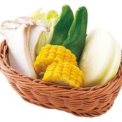 料理メニュー写真国産焼き野菜盛り合わせ