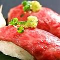 料理メニュー写真極上和牛炙り寿司