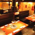 2階席は歓送迎会・同窓会などご宴会に使いやすい大空間!フロア貸切でのご利用可能です。