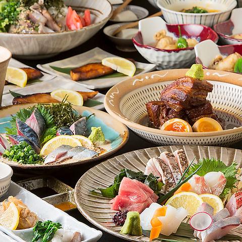 旬の鮮魚は鮮度に絶対の自信アリ。九州の旨いもんを食べるなら照(てら)で決まり!