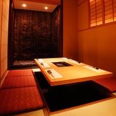 【全席完全個室】目の前には滝が流れており優雅にお食事を堪能していただける1室になっております。早めのご予約がお勧めです