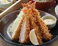 料理メニュー写真海老フライ&ぶりかつ定食