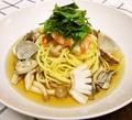 料理メニュー写真海の幸の和風スープ