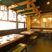 温かみのある色味で統一された店内は、安心できる空間を演出♪明るい店内で思う存分、食事・会話をお楽しみいただけます★