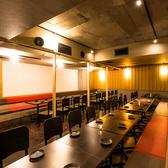 □■テーブル席■□明るい照明と広々とした店内で楽しく宴会,飲み会はいかがですか?余裕のある席配置ですので隣のお客様を気にすることなくお愉しみ頂けます。是非ご利用ください。