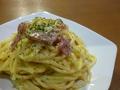 料理メニュー写真温玉のせカルボナーラ
