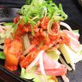 料理メニュー写真豚キムチ鉄板/ホルモン鉄板