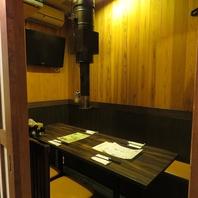 6名様用テレビ付き個室
