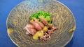 料理メニュー写真ホタルイカと春野菜の酢味噌和え(季節限定)