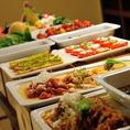 新鮮野菜を毎日ご用意♪旬の食材を使用した料理の数々をお楽しみ下さい!