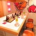 おしゃれなテーブルを囲んで女子会や宴会にぴったり!!【梅田#大衆酒場#個室#ランチ#誕生日#肉#デート#女子会】