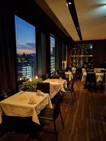 ■夜景の望めるレストラン席、ご予約必須です!■