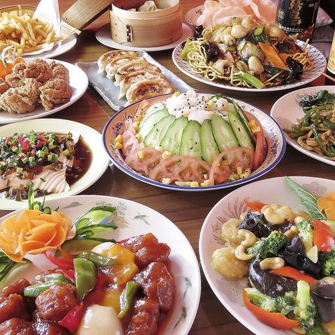 ◆楽宴コース(1) ◆2時間飲み放題付き ◆全9品 ◆2,880円(税別)