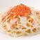 料理メニュー写真サーモンとイクラのクリームパスタ