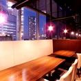夜景の見えるテーブル席は合コンに最適!会社での歓迎会・懇親会のご予約も承り中♪
