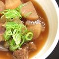 料理メニュー写真牛タンと牛すじの博多煮込み~柚子胡椒添え~