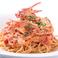 料理メニュー写真渡りガニとズワイガニのトマトクリームパスタ