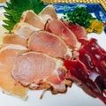 料理メニュー写真鶏刺し3種盛り