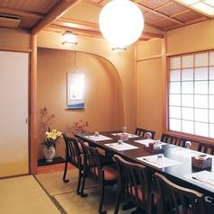 接待やご家族でのお食事、特別な日に利用しやすい個室となっております。人数、シーン、目的に応じて個室を使い分けられます。