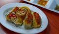 料理メニュー写真鶏皮ギョウザ