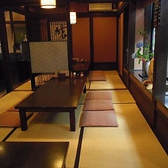 お座敷席では、20名位までの食事も可能。