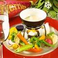 料理メニュー写真三次の元気野菜を使った自家製肉みそのバーニャカウダ