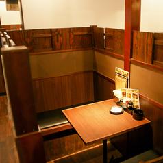 2名様用のテーブルも個室感あり♪