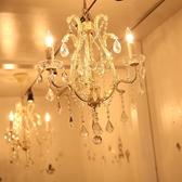 シャンデリアがキラキラ輝くお姫様のプライベートルーム