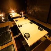 テーブル席の扉付き完全個室はお勤め先での宴会や飲み会はもちろん女子会・誕生日会等にもオススメです◎プライベート空間で周りを気にせずごゆっくりお愉しみください!テーブル席の扉付き完全個室は2名~4名様個室,5名~8名様個室,15~20名様個室でご用意しております!
