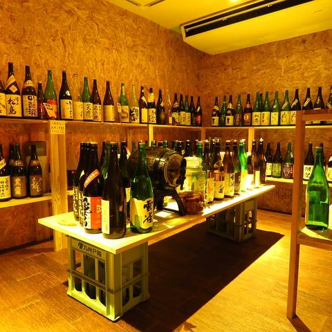 獺祭などの日本酒が約120種飲み比べ放題出来る日本酒バー!