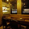 接待、会食などに最適な大人の雰囲気ある個室席