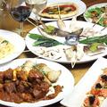料理メニュー写真満足5000円2.5時間飲み放題付きコース(ドリンク50種類、ワイン6種)