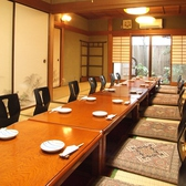 最大25名程入れる完全個室。会社宴会等に◎