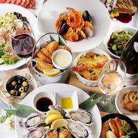 牡蠣以外にも…多彩なアラカルトの品々