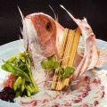 料理メニュー写真真鯛の活造り