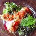 料理メニュー写真穴子のカツレツ風 フレンチサルサソース