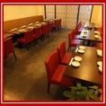 奥のテーブル席は各種宴会に最適!20名以上で貸切可能!!