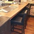 全席鉄板を完備しております!お仕事帰りのおひとりさまのご利用にも最適なカウンター席もご用意がございます♪