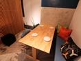 半個室のテーブル席もございます!貸切もOK
