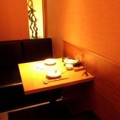 人気の2名様用個室(テーブル席)