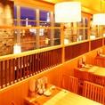 テーブル席からはキレイな仙台の夜景も愉しめます。デートにもオススメ☆