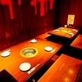 家族でのお食事や女子会など様々なシーンに使い勝手のいいテーブル席
